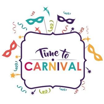Festival de carnaval de masque de banderoles