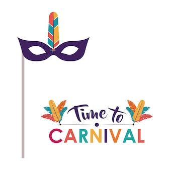 Festival de carnaval de plumes de masque
