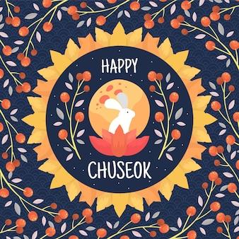 Festival de chuseok dessiné à la main