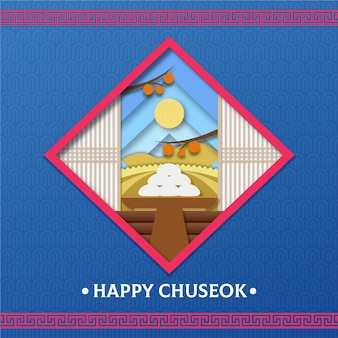 Festival de chuseok en style papier