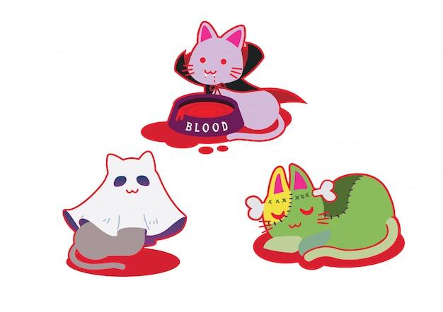 Festival des costumes de chat d'halloween