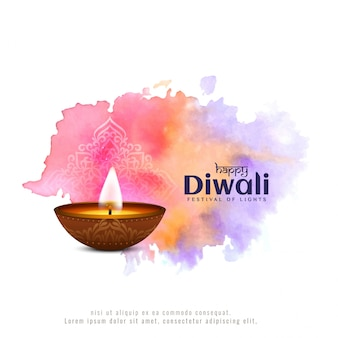 Festival de diwali coloré et abstrait
