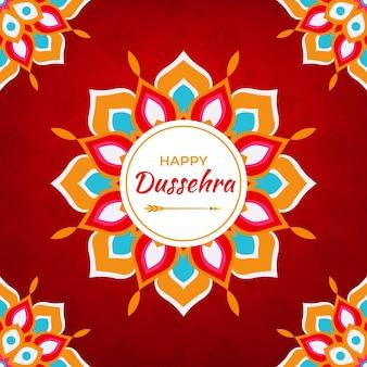 Festival de dussehra dessiné à la main