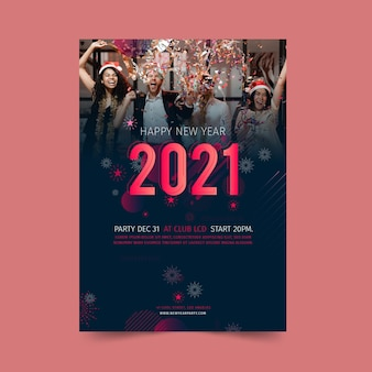 Festival des flyers du nouvel an 2021