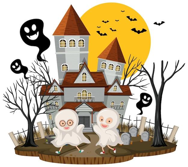 Festival d'halloween avec manoir hanté