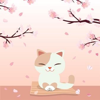 Festival hanami. festival des fleurs de cerise.
