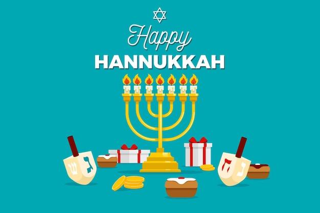 Festival de hanoucca plat