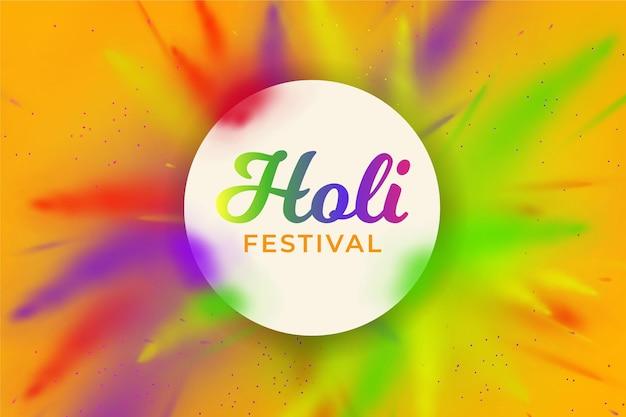 Festival holi réaliste