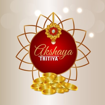 Festival indien akshaya tritiya avec pièce d'or