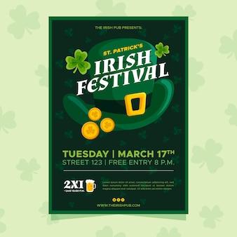 Festival irlandais st. affiche de la patrick