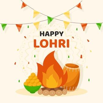 Festival de lohri design plat