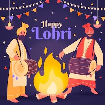 Festival de lohri dessiné à la main