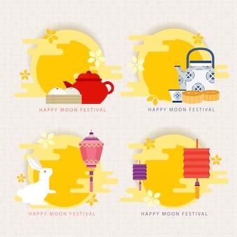 Festival de la lune / festival chinois de la mi-automne