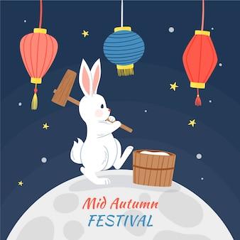 Festival de la mi-automne dessiné à la main
