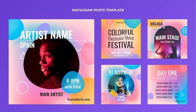 Festival de musique coloré dégradé ig post