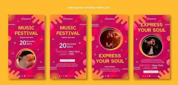 Festival de musique en demi-teinte dégradé ig stories