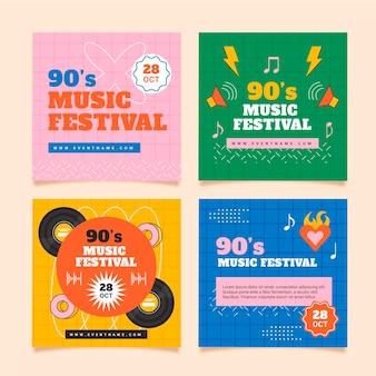 Festival de musique nostalgique plat des années 90 ig post