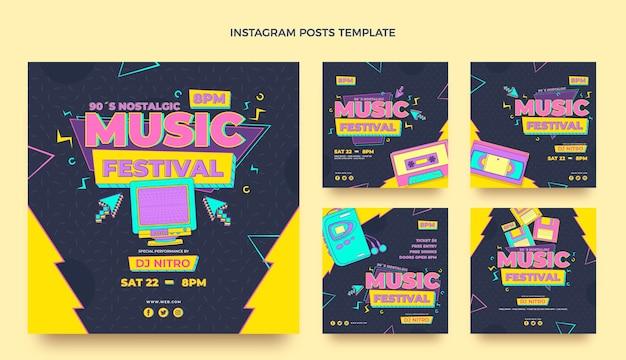 Festival de musique nostalgique plat des années 90 ig