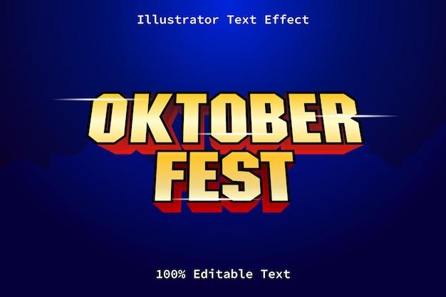 Festival d'octobre avec effet de texte modifiable de style de jeu moderne