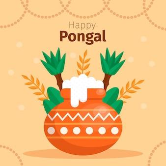 Festival de pongal design plat