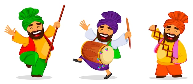 Festival populaire populaire punjabi d'hiver lohri