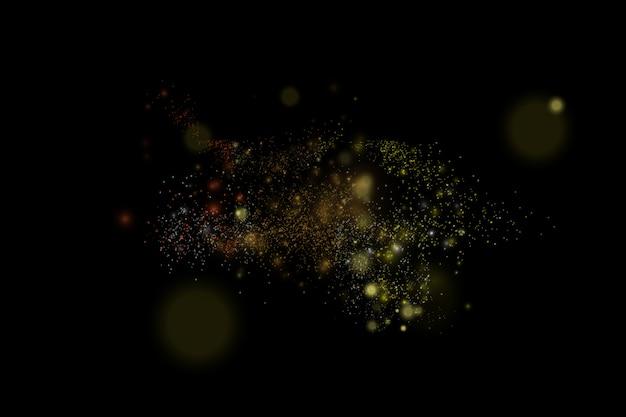 Festive bleu et or lumineux avec des lumières colorées