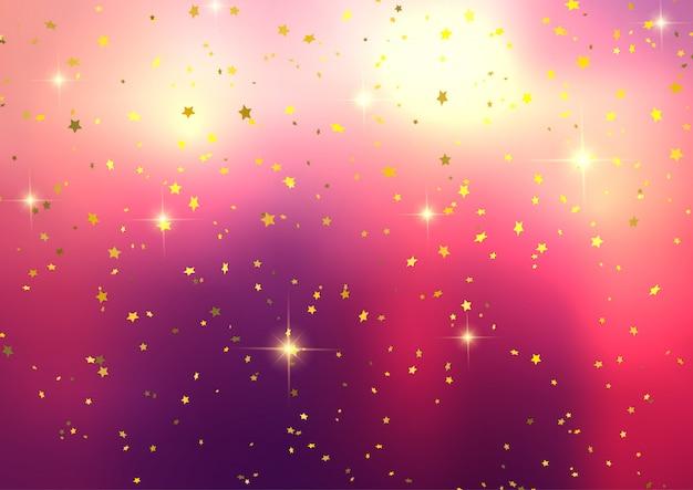 Festive fond avec des confettis étoiles