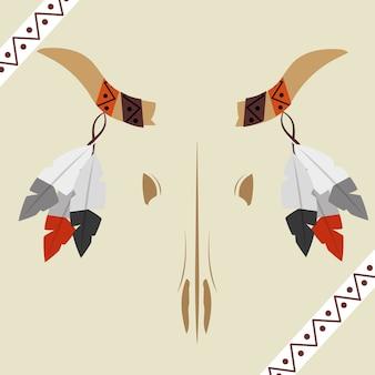 Festons à cornes de crâne amérindien