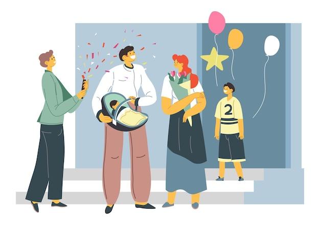 Fête d'anniversaire d'enfant nouveau-né joyeuses fêtes