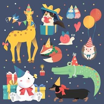 Fête d'anniversaire avec jeu d'animaux