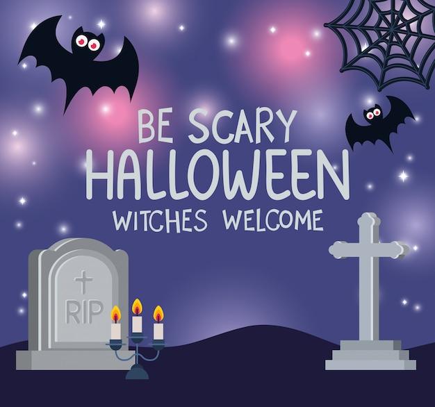 Fête de bienvenue des sorcières d'halloween