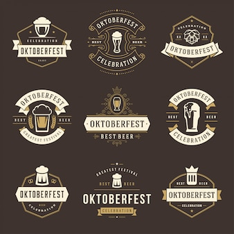 Fête de la bière célébrant les fêtes de la bière, logos et logos