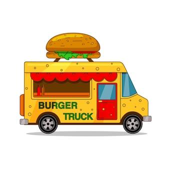 Fête des camions de nourriture. brochure, menu street food. vecteur. fond isolé.