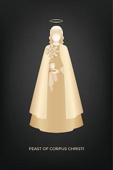 Fête de corpus christi avec ange tenant un ostensoir
