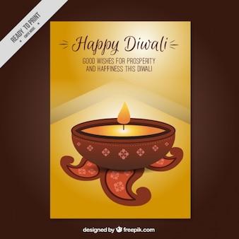 Fête de diwali brochure d'or