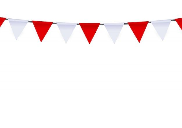 Fête avec drapeaux