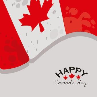 Fête du canada avec drapeau
