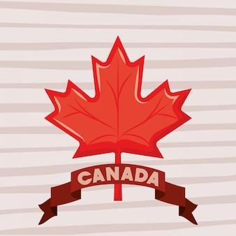 Fête du canada avec feuille d'érable