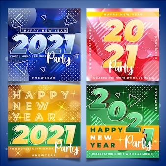 Fête du nouvel an 2021 instagram posts