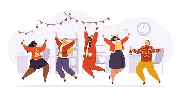 Fête du nouvel an ou de noël au bureau