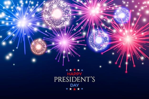 Fête du président des feux d'artifice