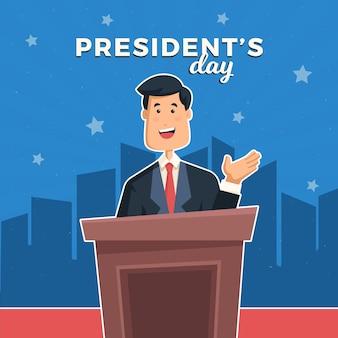 Fête du président plat