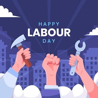 Fête du travail pour l'égalité et l'unité pour les travailleurs
