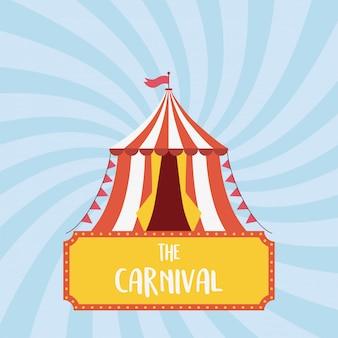 Fête foraine carnaval tente drapeau loisirs divertissement