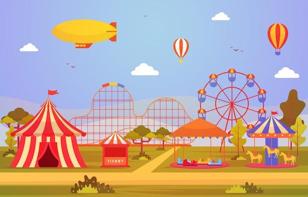 Fête foraine du carnaval du cirque