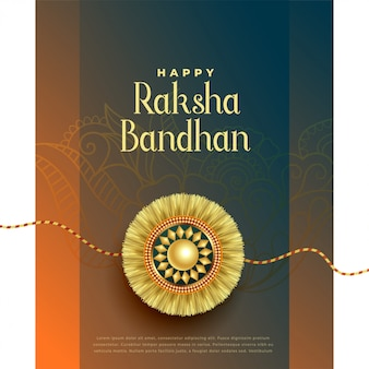 Fête hindoue de la carte de voeux raksha bandhan