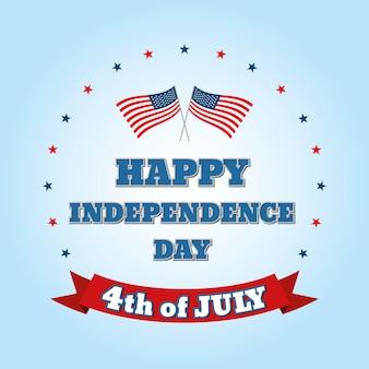 Fête de l'indépendance le 4 juillet. joyeux jour de l'indépendance.