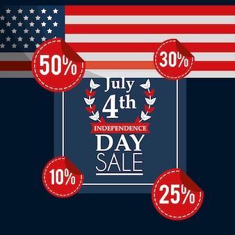 Fête de l'indépendance américaine décompte commerce