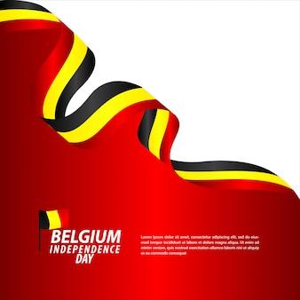 Fête de l'indépendance de belgique célébration vector illustration de conception de modèle