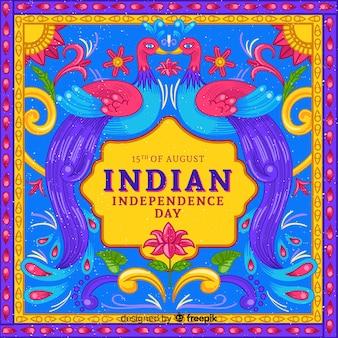 Fête de l'indépendance colorée de fond de l'inde